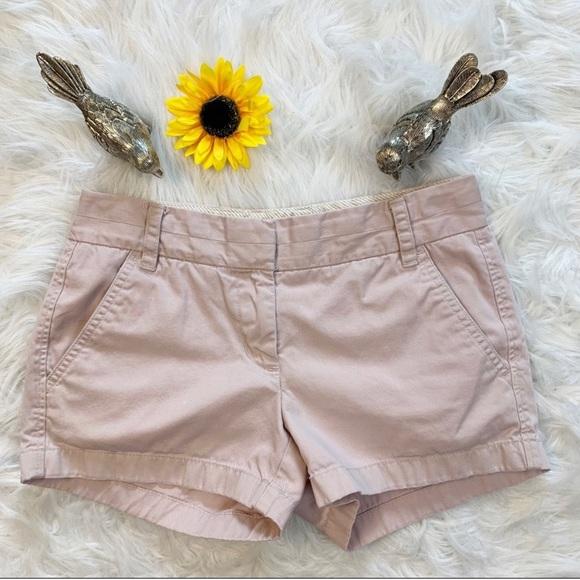 J. Crew Pants - J. Crew Blush Pink Chino Shorts Size 0